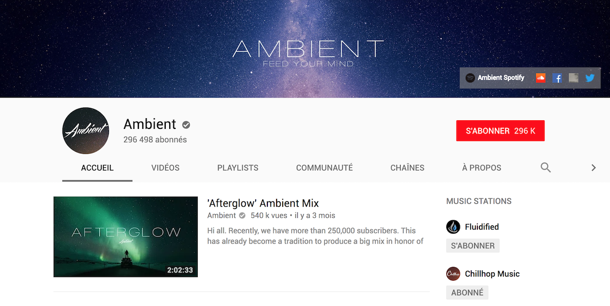 youtube ambient