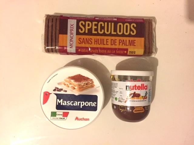 Nutella, mascarpone, Speculoos