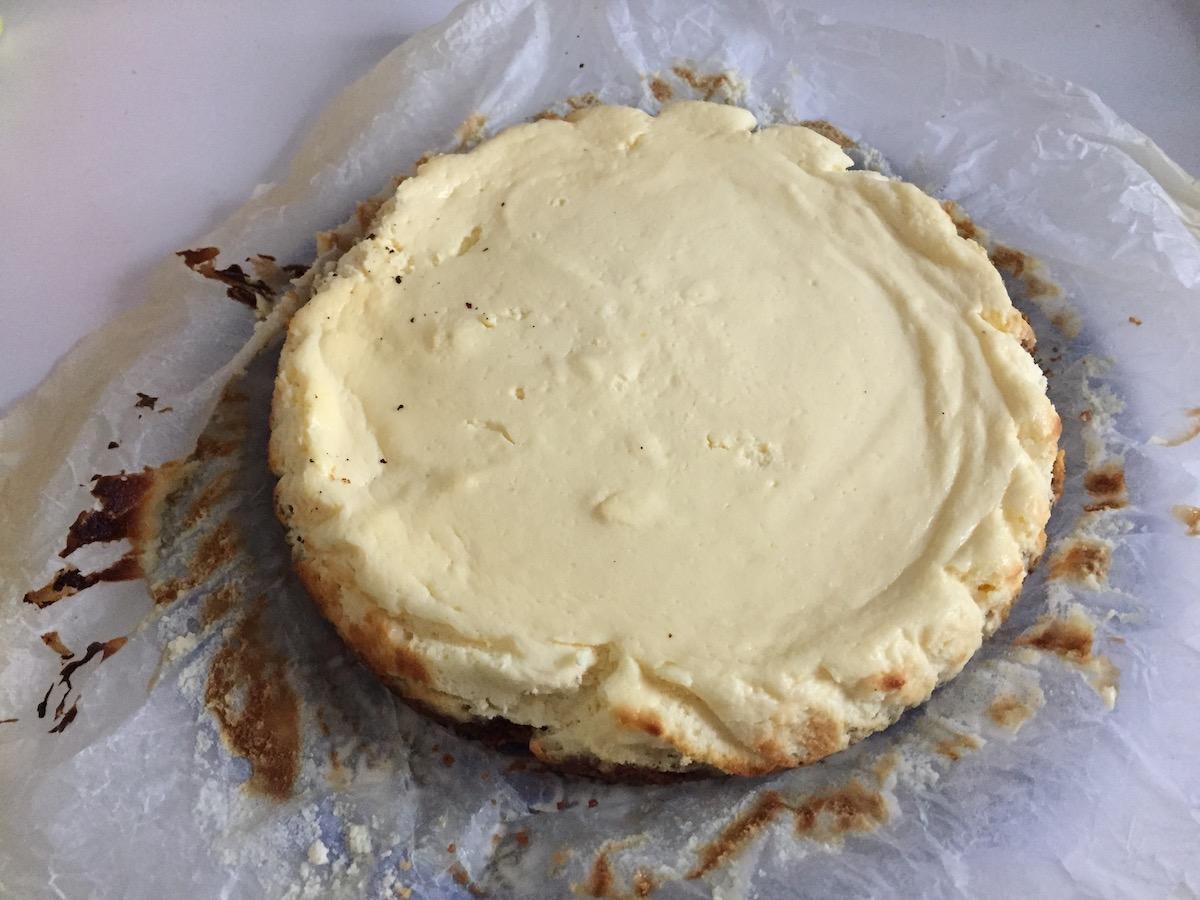 Cheesecake sans papier sulfurisé