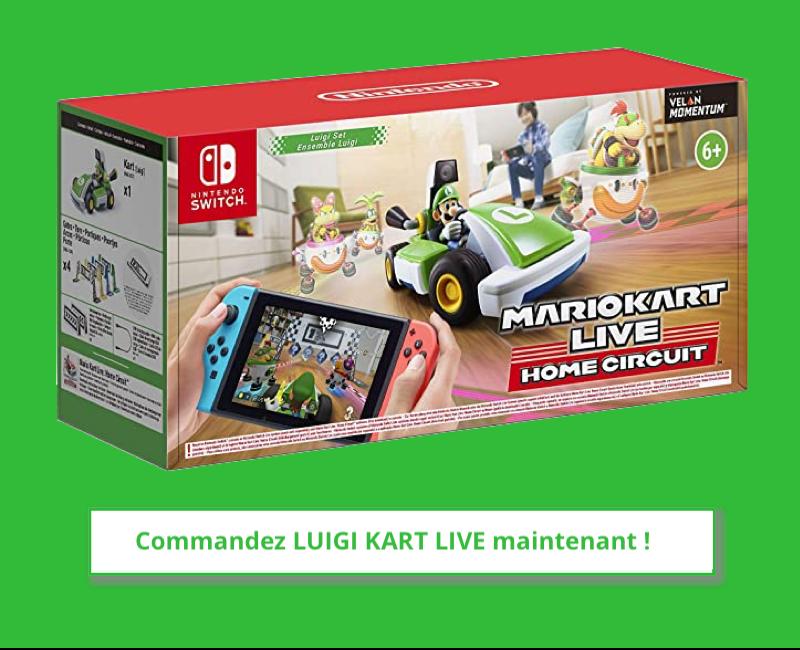 Mario Kart réalité mixte sur Nintendo switch
