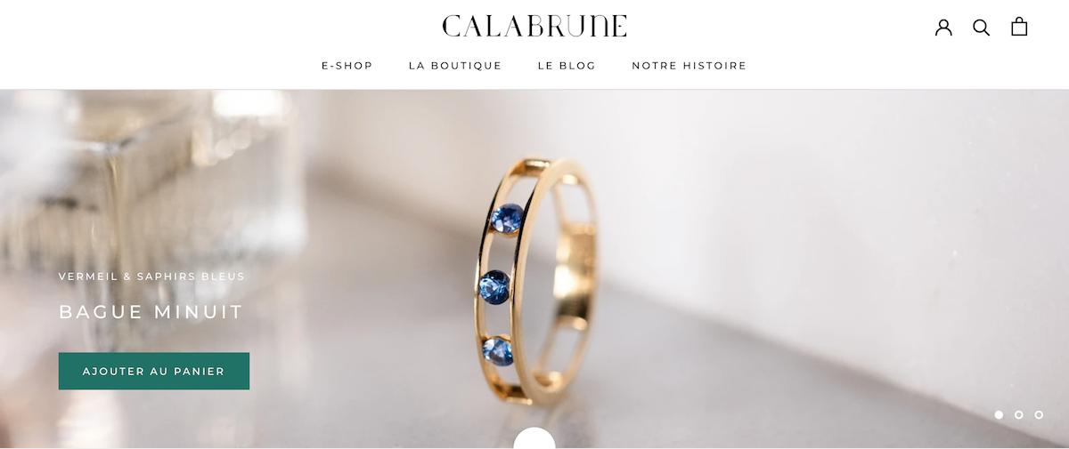 bijoux metal précieux Calabrune paris