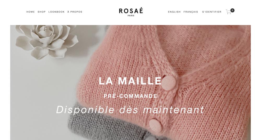 Rosaé Paris marque vetement française spécialisee dans la Maille