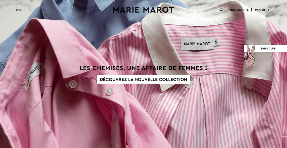 Marie Marot chemises Paris