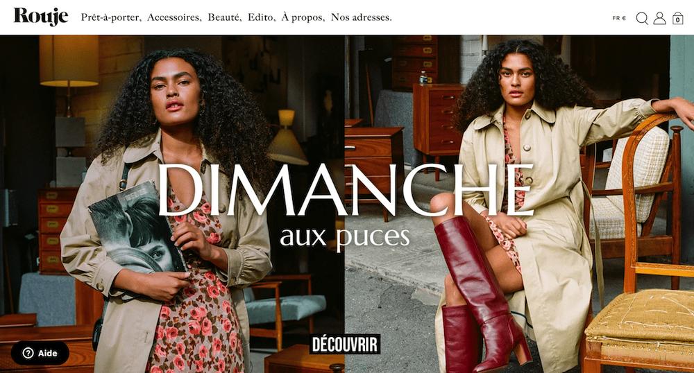 Rouje vetement marque française par Jeanne Damas parisienne influenceuse Instagram