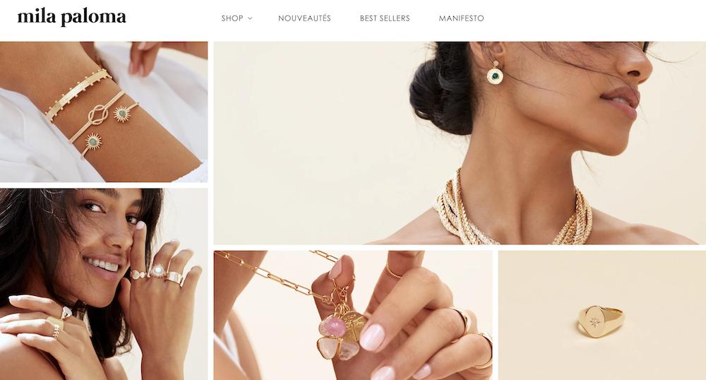 Mila Paloma bijoux Paris colliers boucle bracelet bague