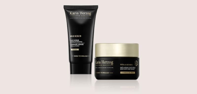 Karin Herzog marque suisse, vegane, naturelle pour la peau à base oxygene