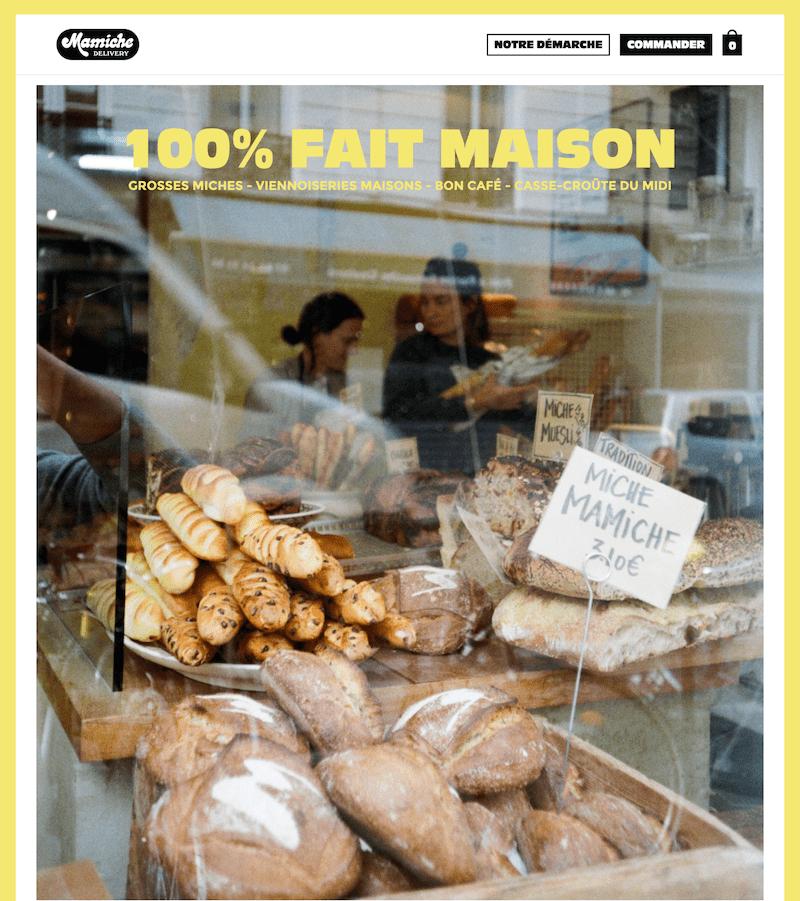 mamiche boulangerie de quartier à Paris