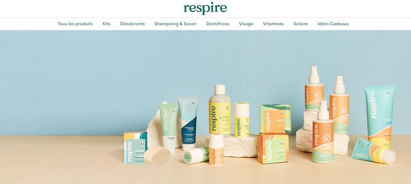 respire maruqe de déodorant 100% narurel et française de Justine Huteau