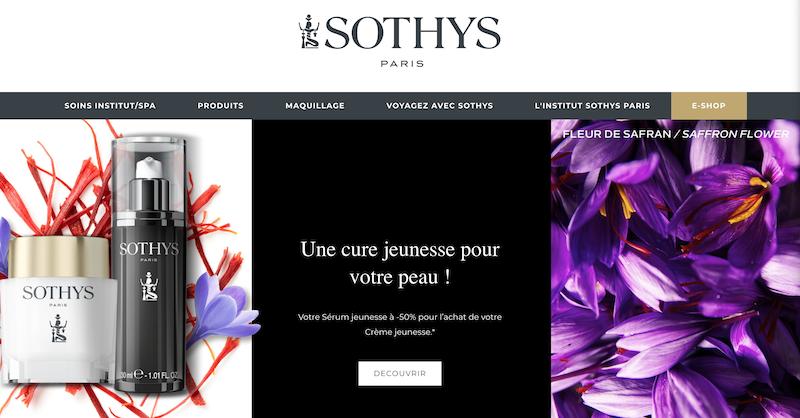 Sothys cosmétique et crème Paris