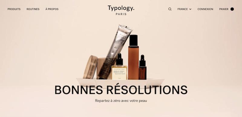 Typology. Paris produits, soins vegan pour la peau